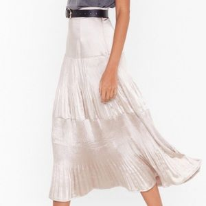 Nasty Gal Satin Midi Skirt